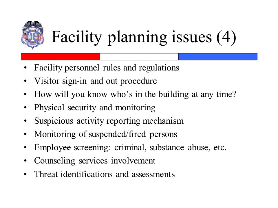 Facility planning issues (4)