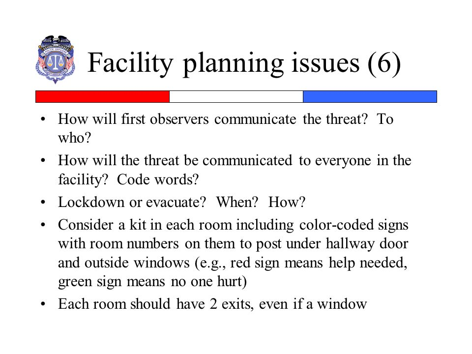Facility planning issues (6)