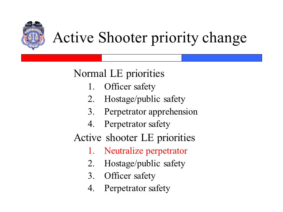 Active Shooter priority change
