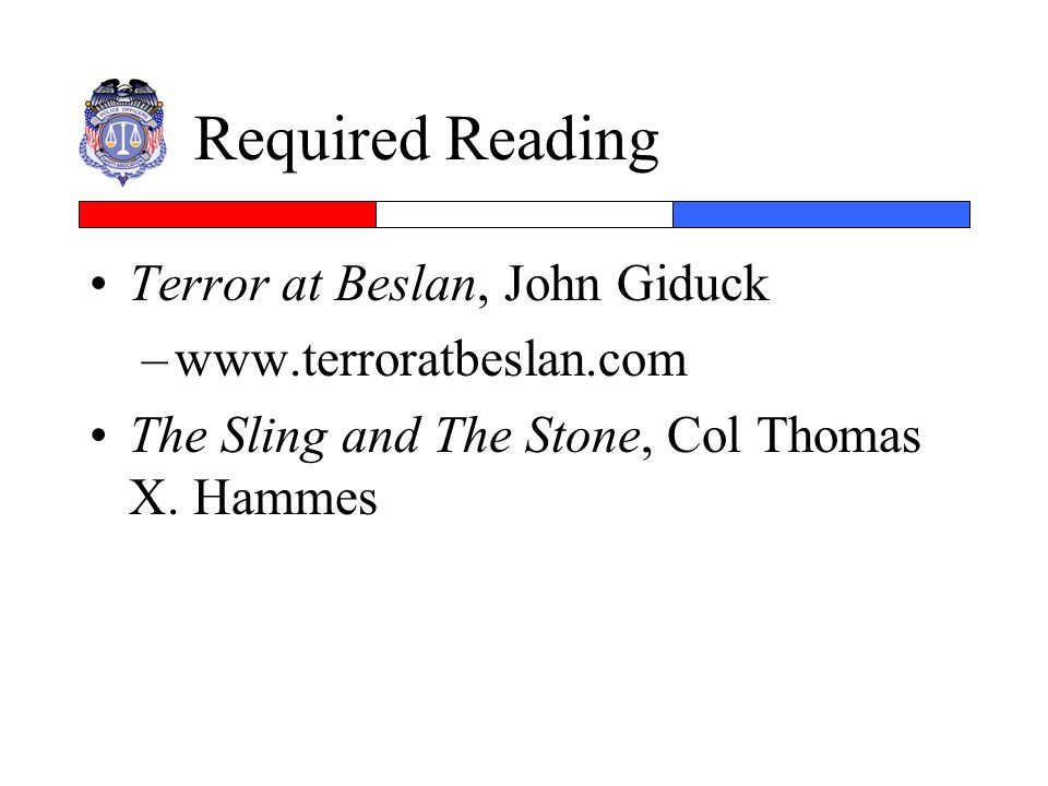 Required Reading Terror at Beslan, John Giduck