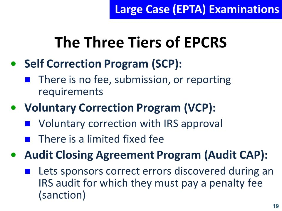 The Three Tiers of EPCRS