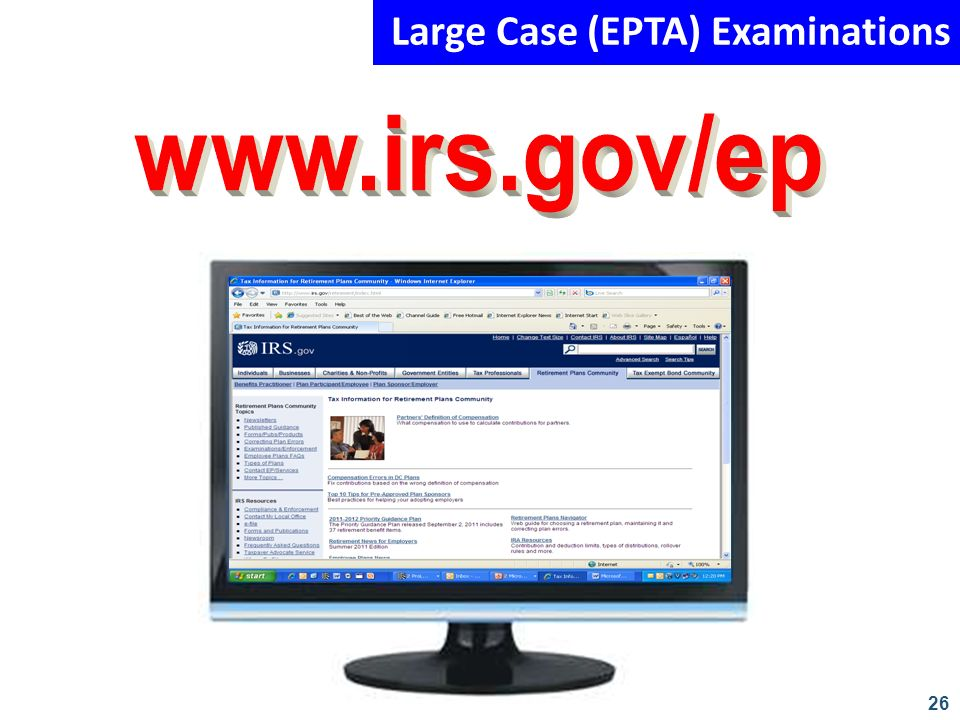 Large Case (EPTA) Examinations