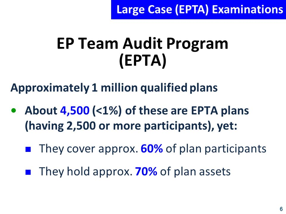 EP Team Audit Program (EPTA)