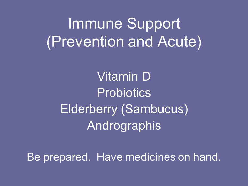 Immune Support (Prevention and Acute)