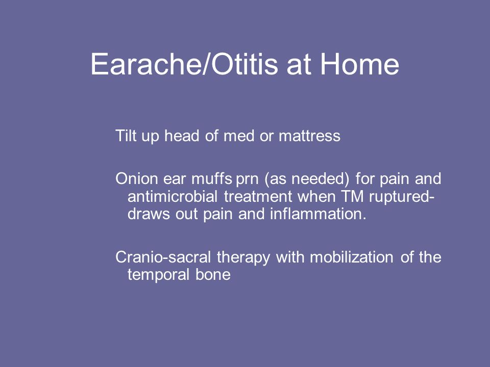 Earache/Otitis at Home