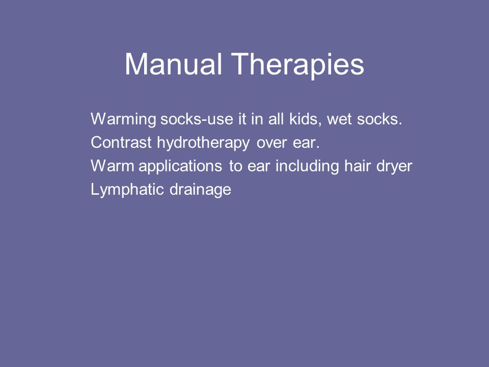 Manual Therapies Warming socks-use it in all kids, wet socks.