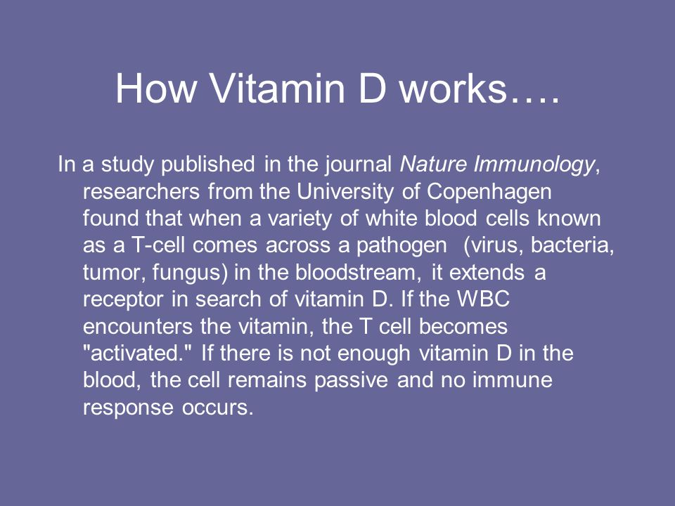 How Vitamin D works….