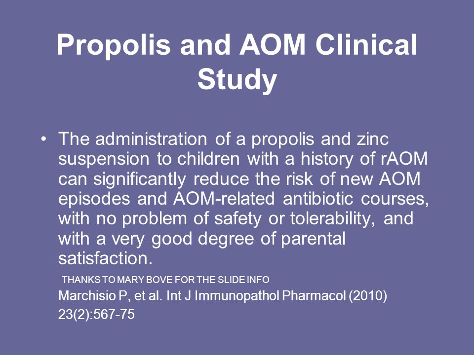 Propolis and AOM Clinical Study