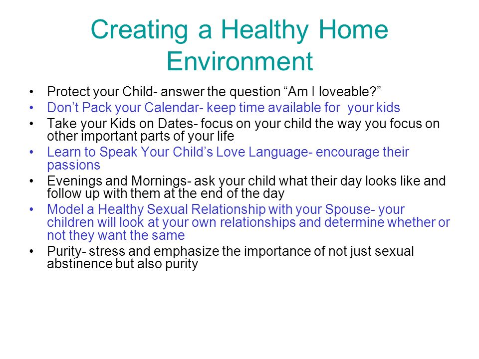 Creating a Healthy Home Environment