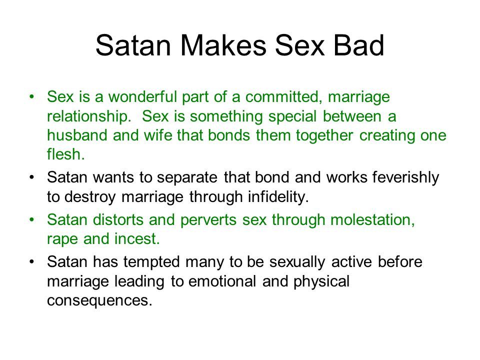 Satan Makes Sex Bad