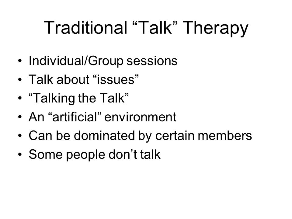 Traditional Talk Therapy