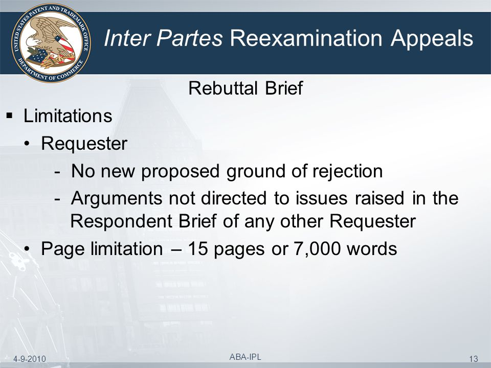Inter Partes Reexamination Appeals