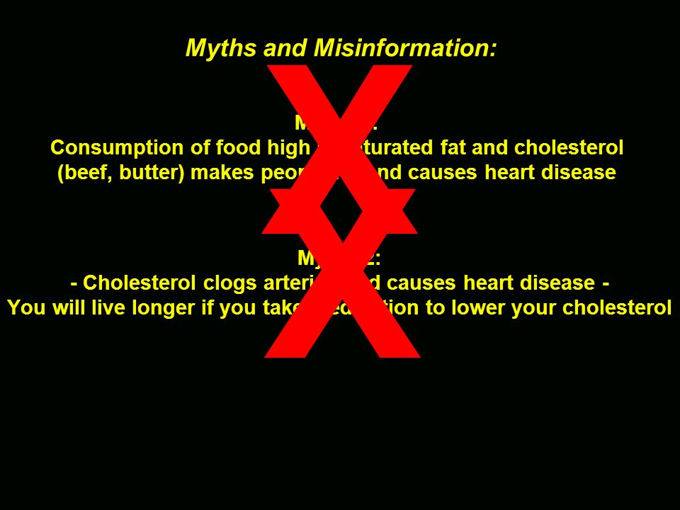 X X Myths and Misinformation: Myth #1: