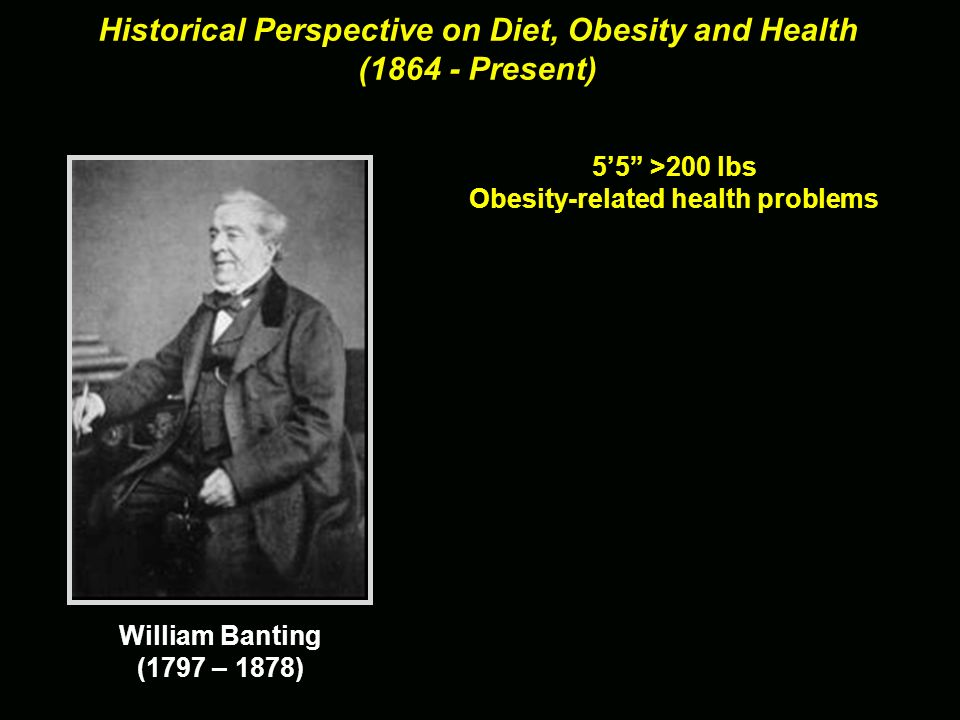 Historical Perspective on Diet, Obesity and Health ( Present)