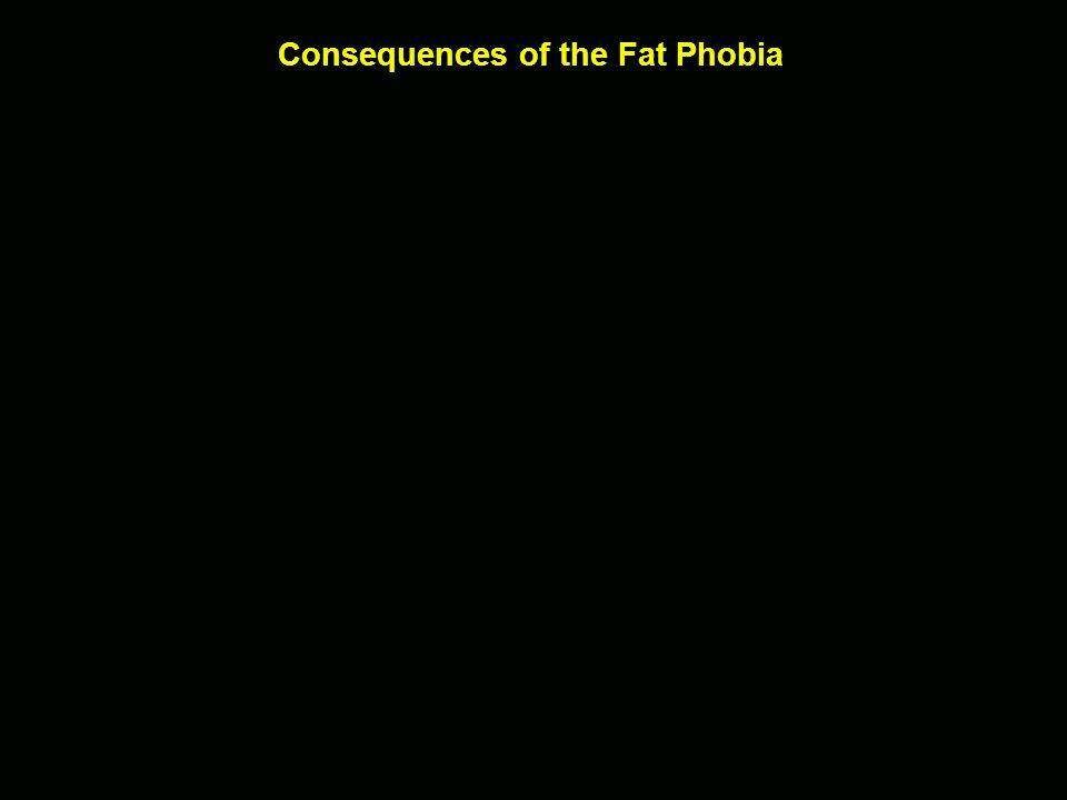 Consequences of the Fat Phobia