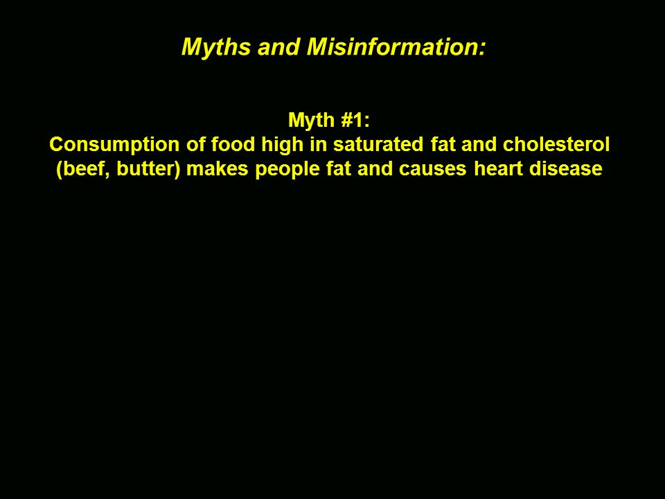 Myths and Misinformation: