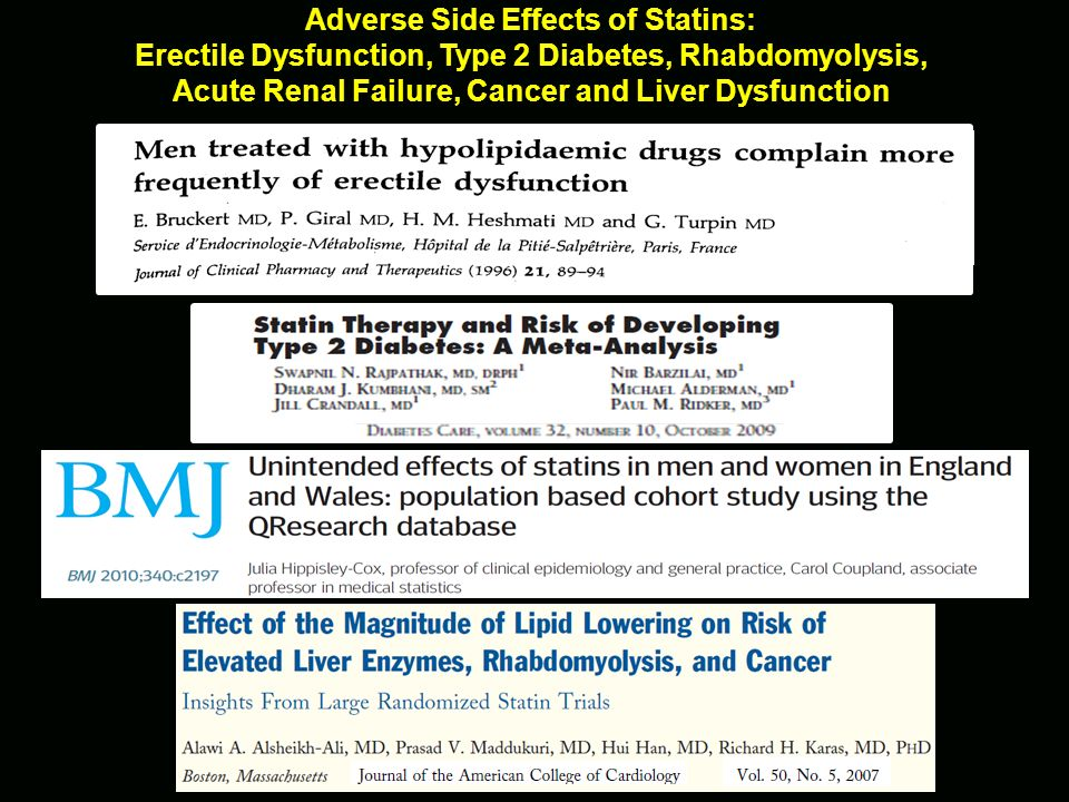 Adverse Side Effects of Statins: