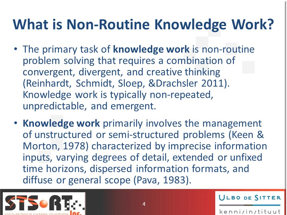 What is Non-Routine Knowledge Work