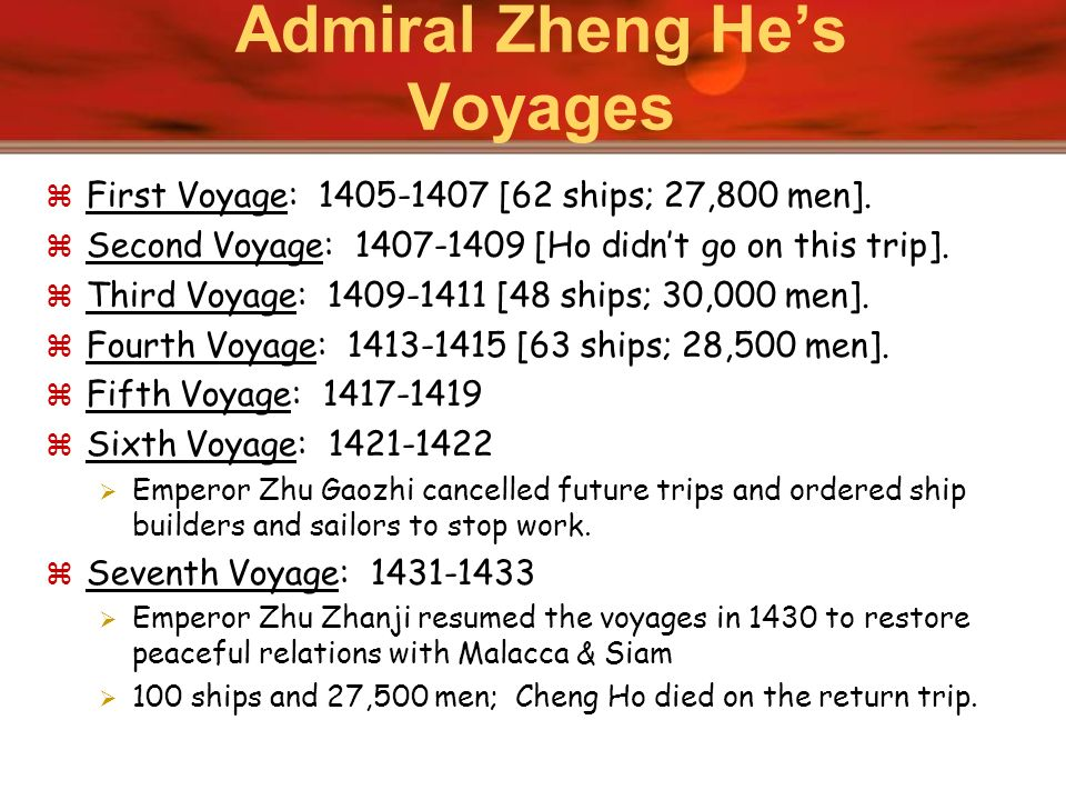 Admiral Zheng He's Voyages