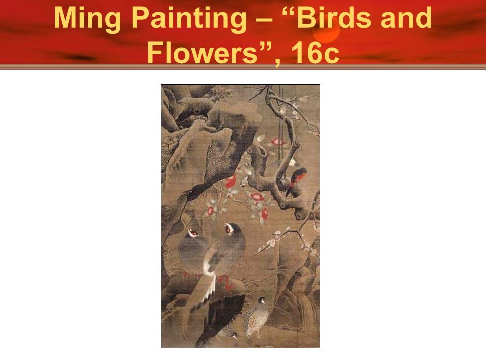 Ming Painting – Birds and Flowers , 16c