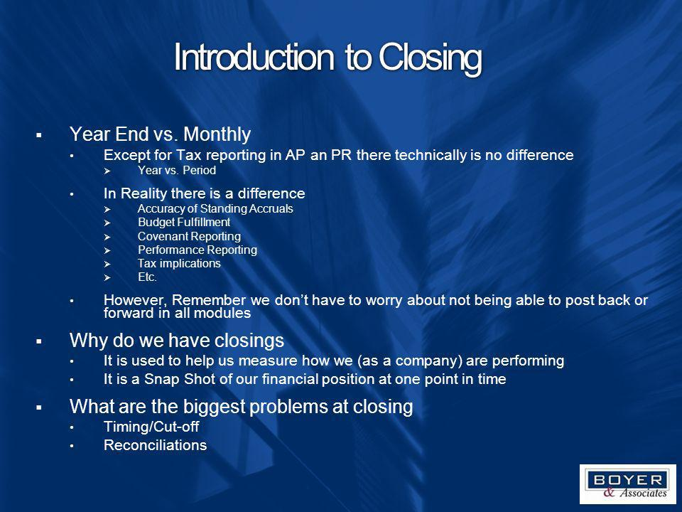 Introduction to Closing