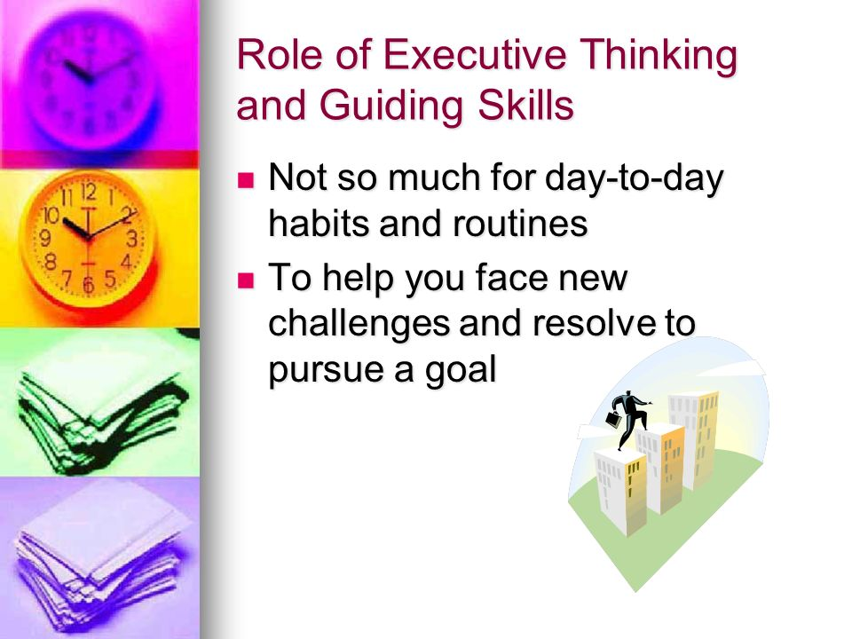 Role of Executive Thinking and Guiding Skills