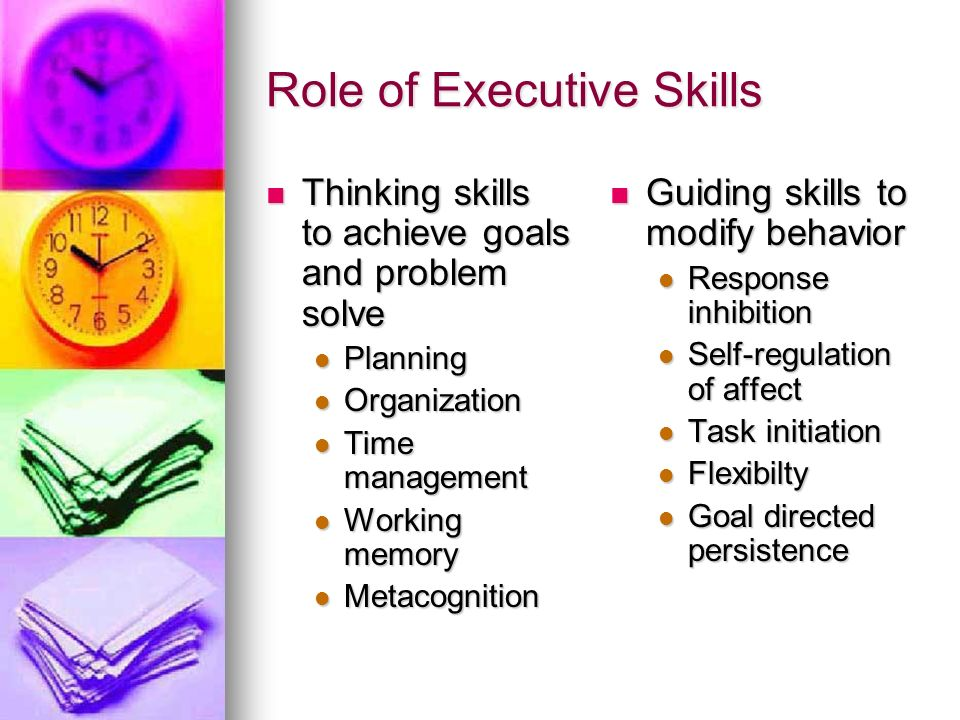 Role of Executive Skills