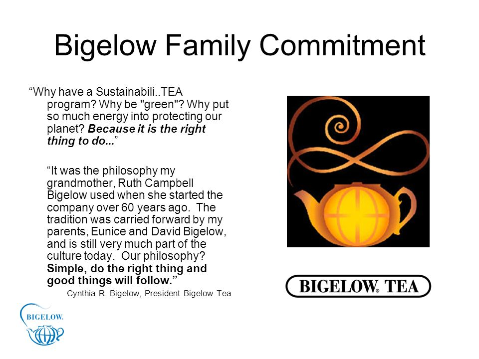 Bigelow Family Commitment