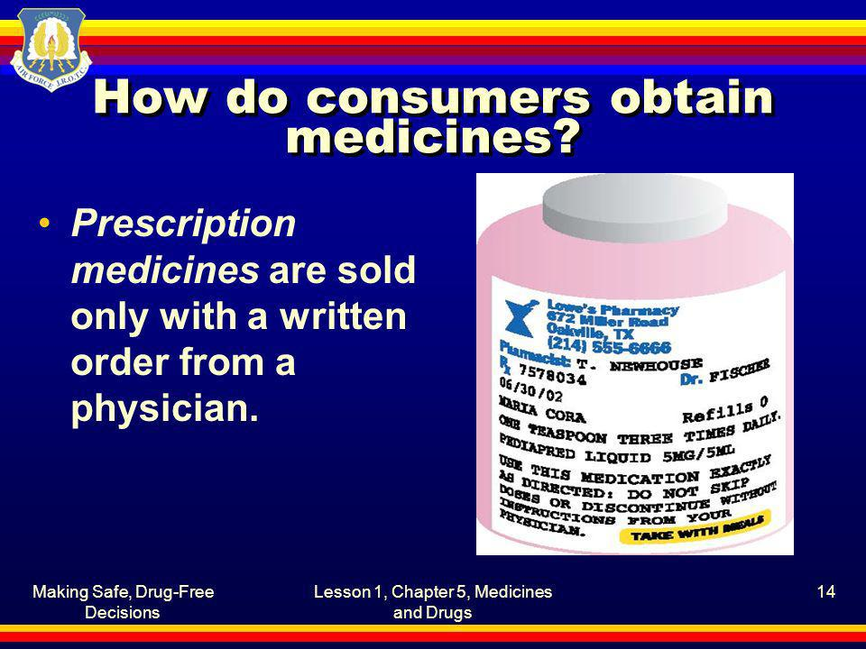 How do consumers obtain medicines