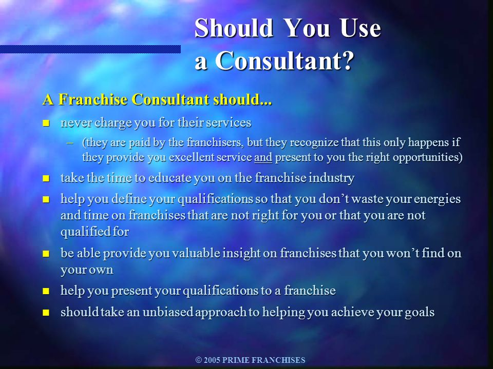 Should You Use a Consultant