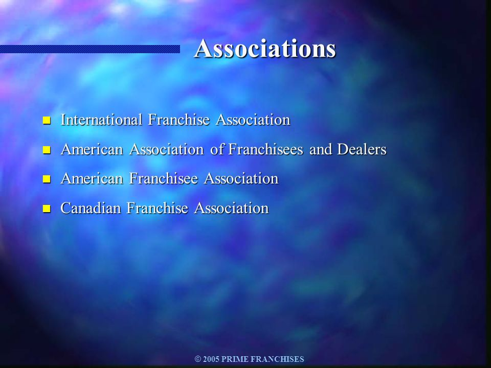 Associations International Franchise Association