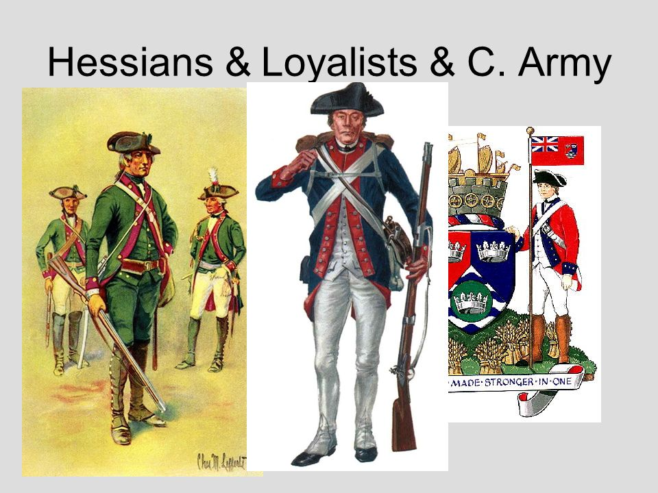 Hessians & Loyalists & C. Army