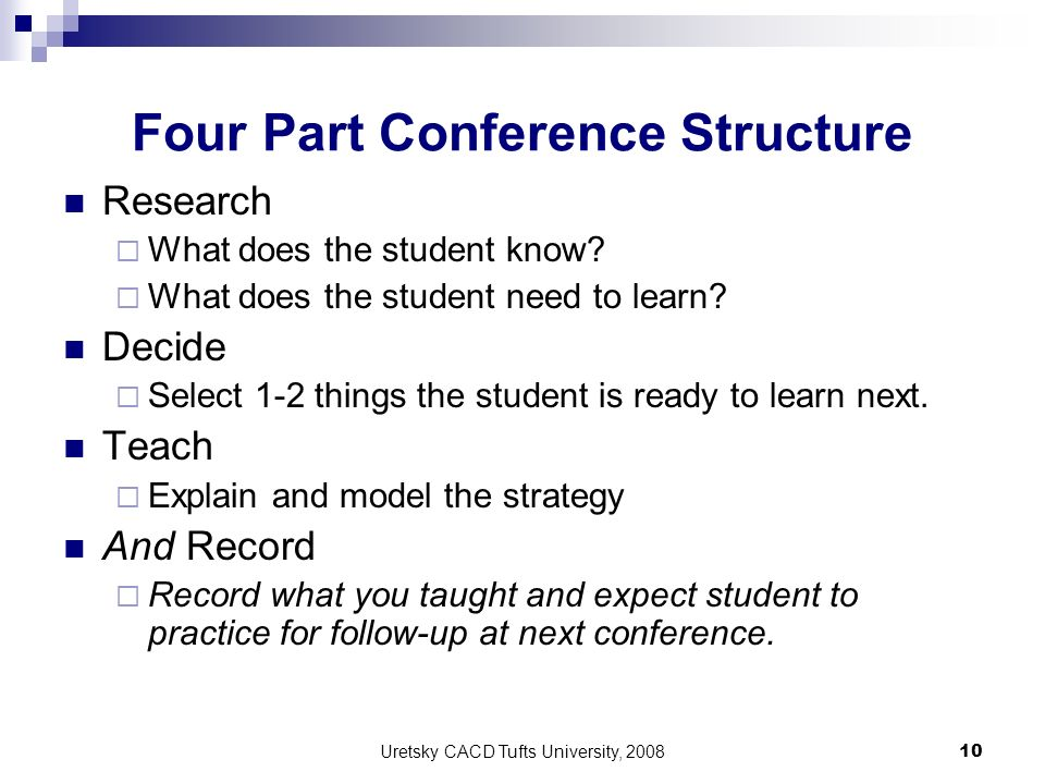 Four Part Conference Structure