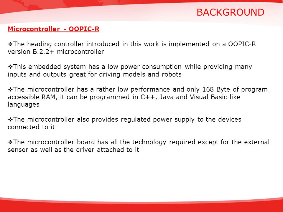 BACKGROUND Microcontroller - OOPIC-R