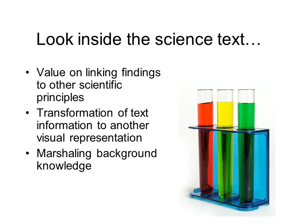 Look inside the science text…
