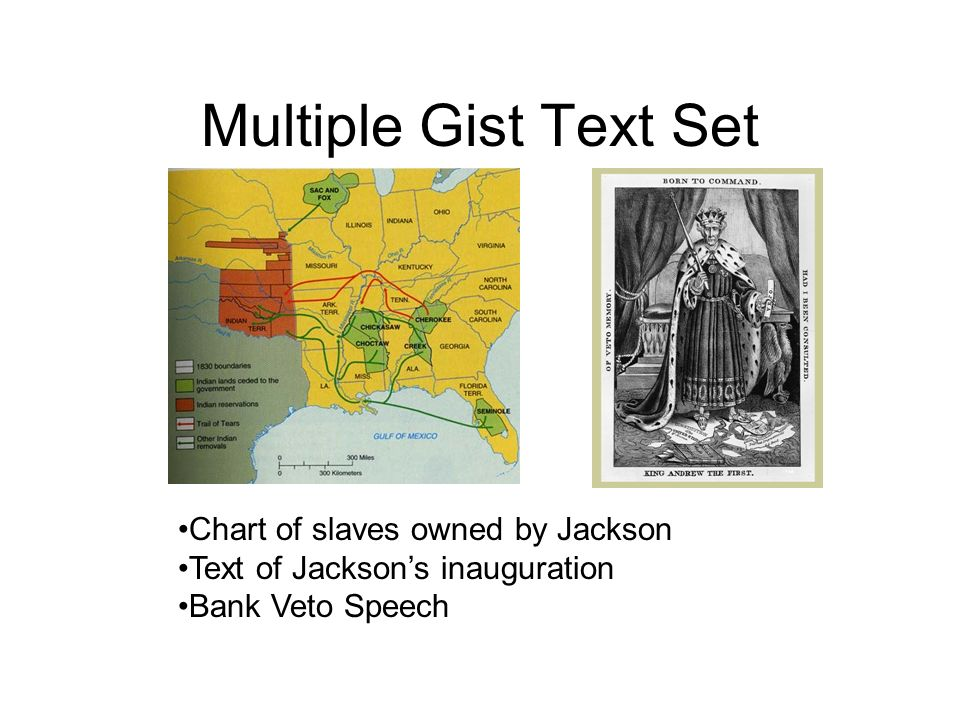 Multiple Gist Text Set Chart of slaves owned by Jackson