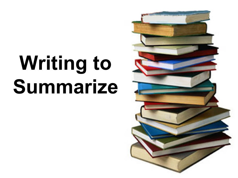Writing to Summarize