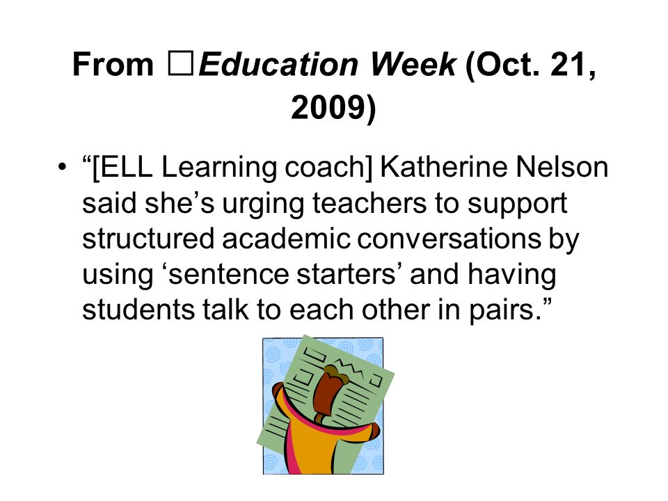 From Education Week (Oct. 21, 2009)