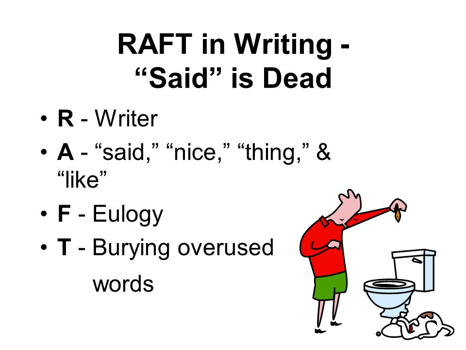 RAFT in Writing - Said is Dead