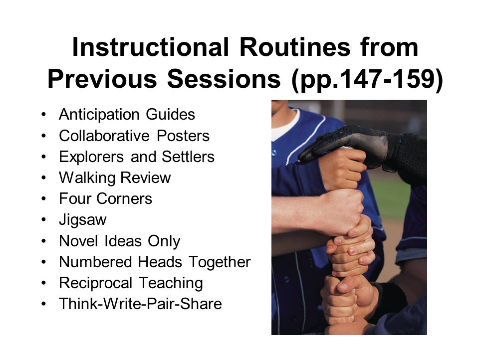 Instructional Routines from Previous Sessions (pp.147-159)