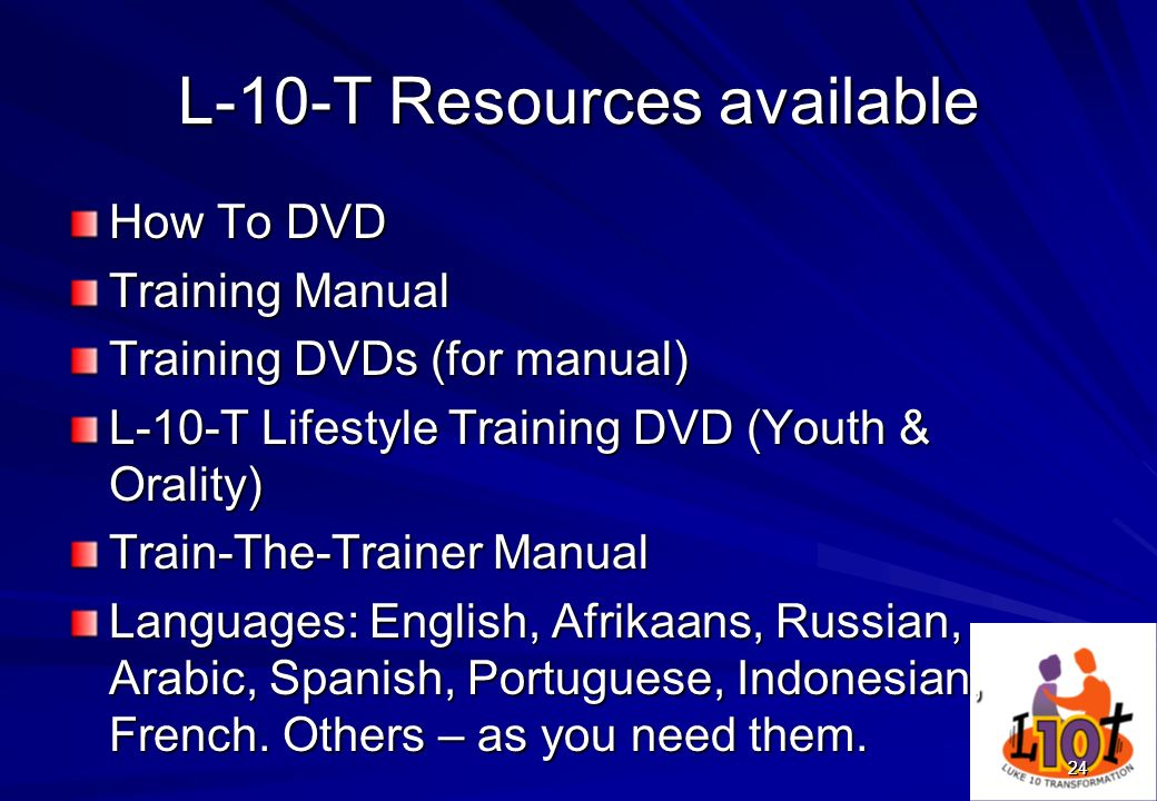 L-10-T Resources available