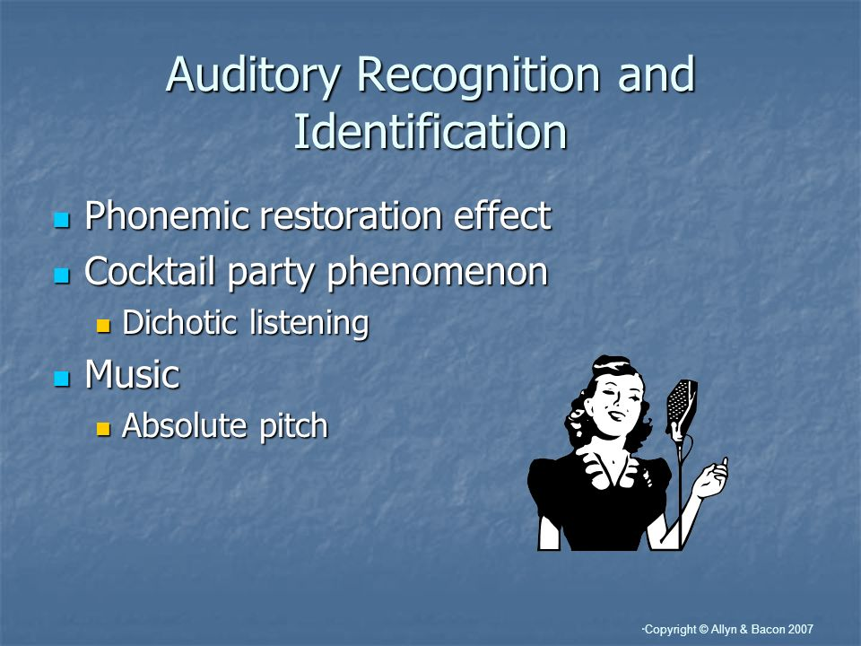 Auditory Recognition and Identification