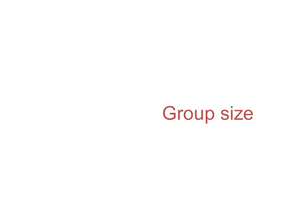 Group size p members