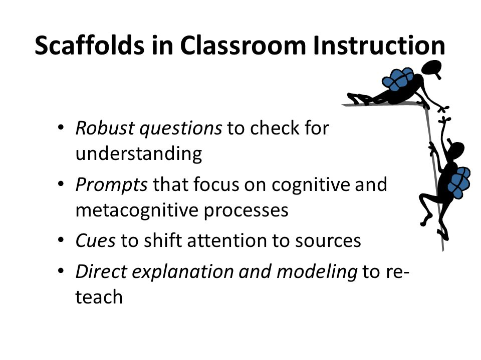 Scaffolds in Classroom Instruction