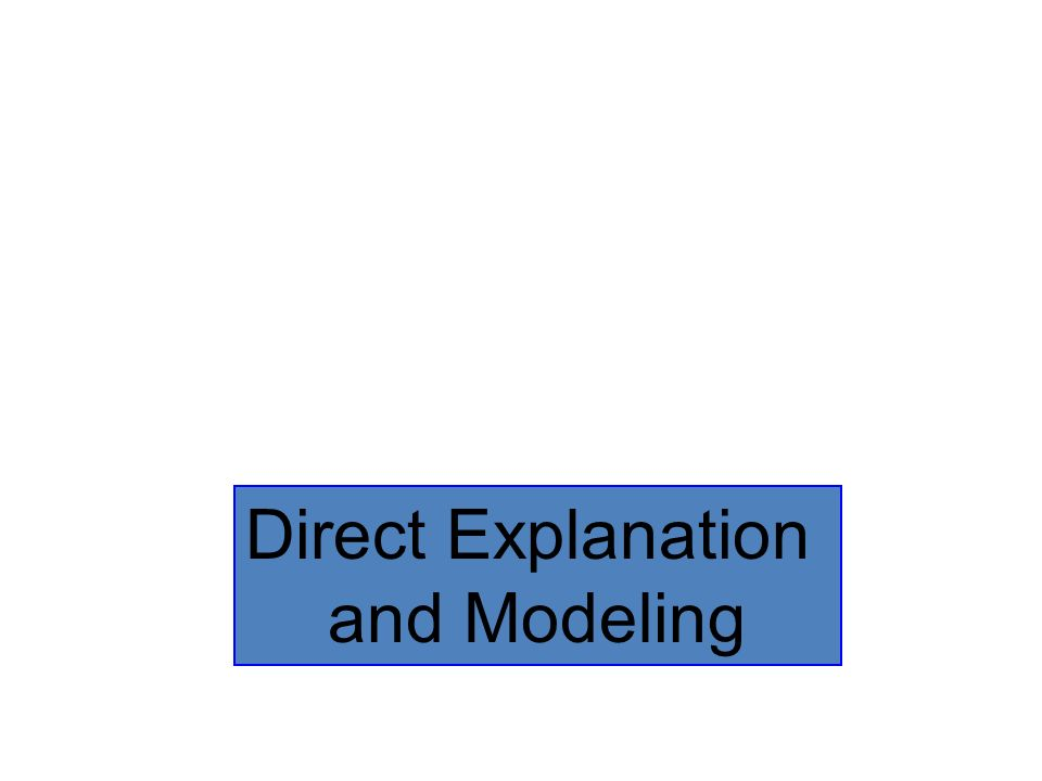 Direct Explanation and Modeling