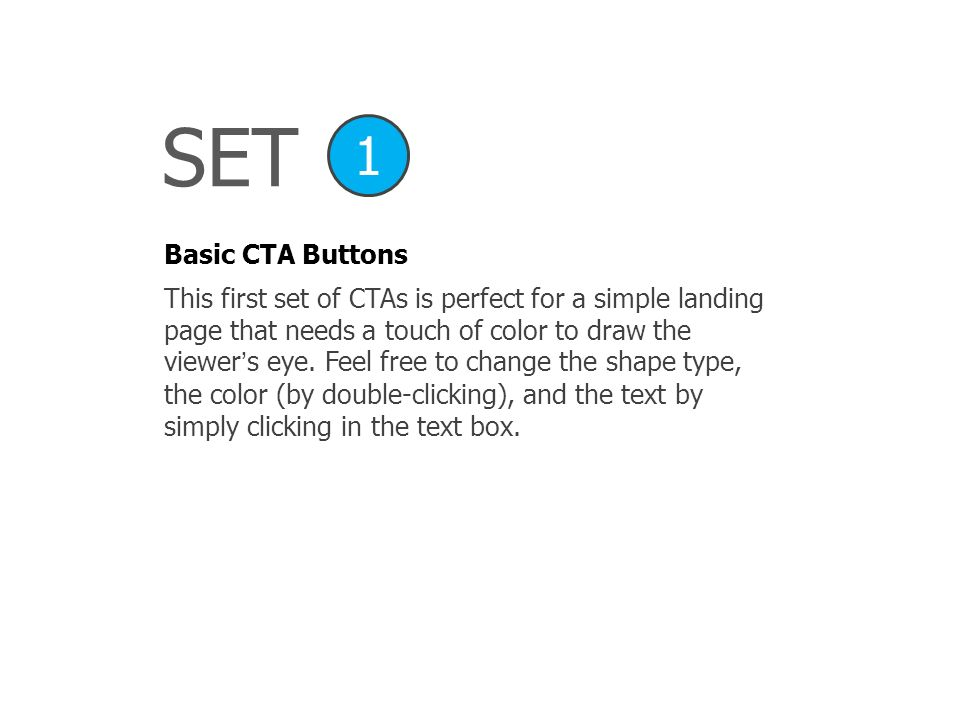 SET 1. Basic CTA Buttons.