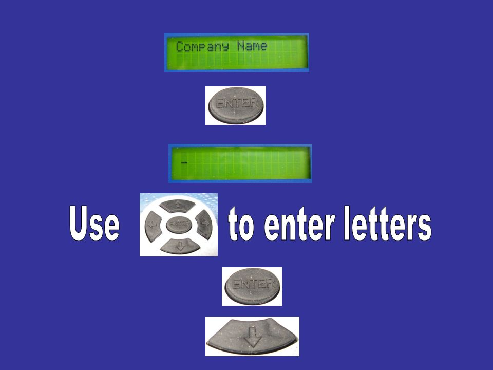 Use to enter letters