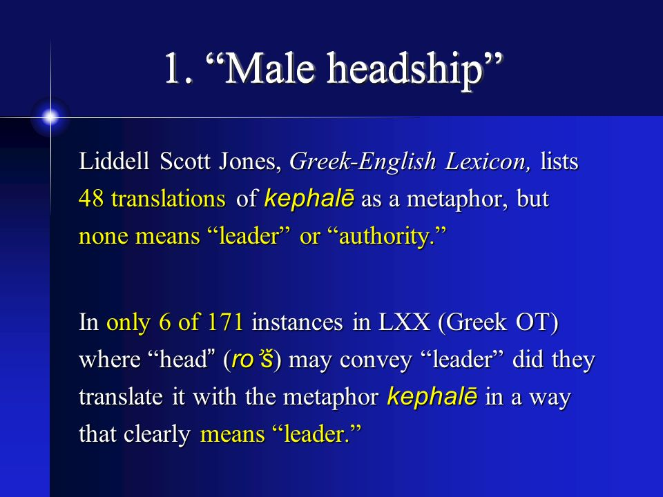 1. Male headship
