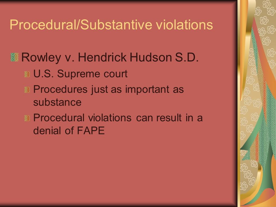 Fape Does Not Include Religious And >> Common Legal Mistakes Districts Make Ppt Download