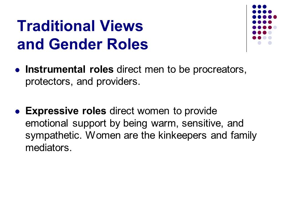 Traditional Views and Gender Roles
